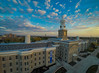 Aerial Photos of Hayes Hall on the South Campus at Sunset.<br /> <br /> Photographer: Douglas Levere