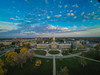 Aerial photos of South Campus at sunset<br /> <br /> Photographer: Douglas Levere