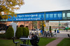 New signage on Student Union walkway<br /> <br /> Photographer: Douglas Levere