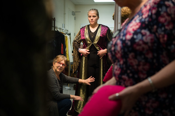 Theatre and dance costume department preparing for an upcoming performance of A Midsummer Night's Dream<br /> <br /> Photographer: Douglas Levere