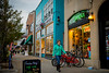 Elmwood Village shops including Campus Wheelworks bicycle shop<br /> <br /> Photographer: Douglas Levere