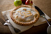 Apple pie with interlocking UB logo<br /> <br /> Photographer: Douglas Levere