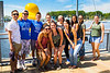 Students at Canalside in downtown Buffalo<br /> <br /> Photographer: Chad Cooper