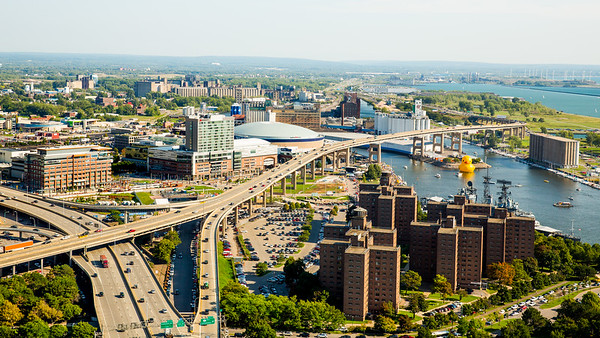 Aerial Photo of downtown Buffalo <br /> <br /> Photographer: Chad Cooper