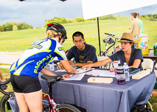 """Cyclovia"" biking event and students on North Campus during opening weekend<br /> <br /> Photographer: Chad Cooper"