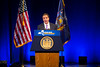 """Governor Andrew Cuomo delivering his """"State of the State"""" address at the Center for the Arts<br /> <br /> Photographer: Douglas Levere"""
