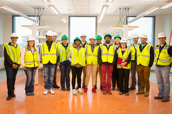 Construction tour in the new Medical School Building<br /> <br /> Photographer: Douglas Levere