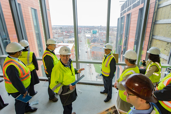 Tour of new Medical School Building with President Satish K. Tripathi<br /> <br /> Photographer: Douglas Levere