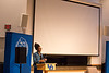 "Screening of short Kenyan science fiction film ""Pumzi"" part of the Signature Series featuring Nnedi Okorafor, award-winning science fiction author and UB faculty member <br /> <br /> Photographer: Meredith Forrest Kulwicki"