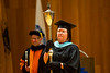 Areta Buchner carries the Mace for the UB Educational Opportunity Center's (UBEOC) 44th Annual Commencement on May 24, 2017 in Slee Hall. <br /> <br /> Photographer: Meredith Forrest Kulwicki