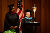 Areta Buchner (right) openes the UB Educational Opportunity Center's (UBEOC) 44th Annual Commencement on May 24, 2017 in Slee Hall. Left is Debra Thompson. <br /> <br /> Photographer: Meredith Forrest Kulwicki