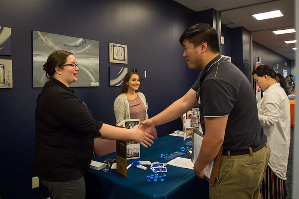 The UB Alumni to Alumni Job Fair at the Center for Tomorrow on June 13, 2017.<br /> <br /> Photographer: Meredith Forrest Kulwicki