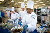 Amber Southerns (right) melts chocolate during the SUNY Culinary Summit Competition held on June 22, 2017 in the Goodyear Dining Center.<br /> <br /> Photographer: Meredith Forrest Kulwicki