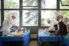 UB (left) and SUNY Geneseo cooking during the SUNY Culinary Summit Competition held on June 22, 2017 in the Goodyear Dining Center.<br /> <br /> Photographer: Meredith Forrest Kulwicki