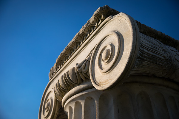 Architectural Details of Baird Point at Sunset on the North Campus<br /> <br /> Photographer: Douglas Levere