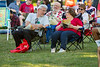 Mike Ryan (left) and his wife, Joan, chat during the UB on the Green event on July 19, 2017. Featuring Randle and the Late Night Scandals, this night is dedicated to health in the community with free health screenings provided by UBMD, UB Nursing and UB Dental, and fun activities for the children.<br /> <br /> Photographer: Meredith Forrest Kulwicki