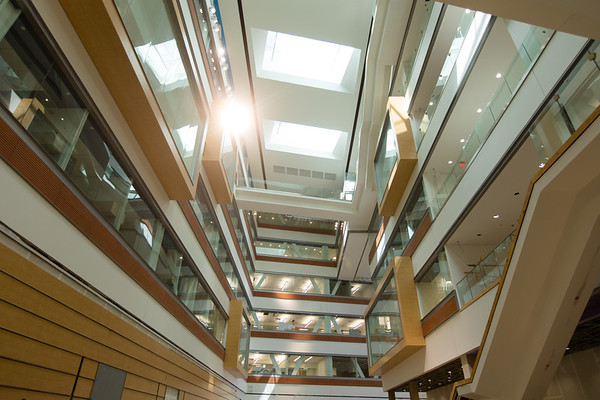 Authorized interior photographs of the Jacobs School of Medicine and Biomedical Sciences