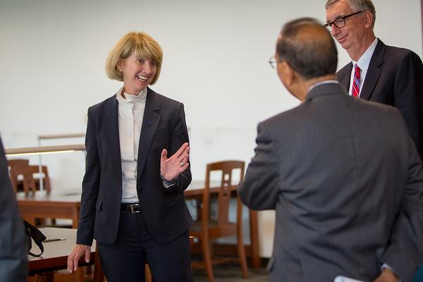 SUNY Chancellor-elect Dr. Kristina Johnson visits UB on Aug. 15, 2017.<br /> <br /> Photographer: Meredith Forrest Kulwicki