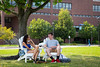 Students between classes on North Campus. <br /> <br /> Photographer: Meredith Forrest Kulwicki