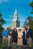 Interprofessional Grant faculty from left Kurt Dermen, RIA, Timothy Janikowski, GSE, Yu-Ping Chang, Nursing, Kim Griswold, Family Medicine, Diane Elze, Social Work and Christopher Barrick, RIA. Photographed in front of Hayes Hall on the UB South Campus.<br /> <br /> Photographer: Douglas Levere