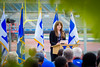 Brittany Acevedo speaks at the ground breaking ceremony for the UB Fieldhouse. <br /> <br /> Photographer: Douglas Levere