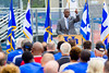 Athletic Director Allen Greene speaks at the ground breaking ceremony for the UB Fieldhouse. <br /> <br /> Photographer: Douglas Levere