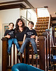 Rachel Jackson, founder of Rachel's Remedies is photographed with her sons at home in Buffalo, NY.<br /> <br /> Photographer: Douglas Levere