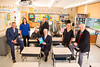 """UB alumni authors who contributed to """"Confronting Oppressive Assessments: How Parents, Educators, and Policymakers Are Rethinking Current Educational Reforms."""" Photographed at Fletcher Elementary for At Buffalo winter 2018.<br /> <br /> From left: Jeffrey Rabey, Rachael Rossi, Donna Kester Phillips, Charles Smilinich, John McKenna, Douglas Regan, Mary Beth Carroll, Walter Polka.<br /> <br /> Photographer: Douglas Levere"""