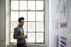Students in Architecture and Planning participate in a final review critique for the fall semester in Crosby Hall.<br /> <br /> Photographer: Meredith Forrest Kulwicki
