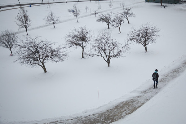 17466 Facilities, snow removal, winter, North Campus