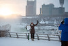 Ice and snow over Niagara Falls during a cold winter weather week in January. <br /> <br /> Photographer: Meredith Forrest Kulwicki