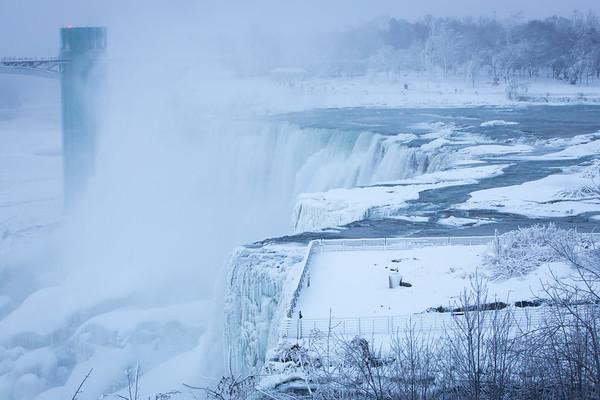 180004 University Communications, Frozen Niagara Falls, Niagara Falls, NY