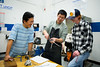 Students take a winter session class in the Machine Shop in Jarvis Hall. Class taught by Xinnan (Simon) Peng, Machine Shop Experiential Instructor.<br /> <br /> Photographer: Meredith Forrest Kulwicki