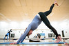 Students take a recreation winter session yoga class at Alumni Arena.<br />  <br /> Photographer: Meredith Forrest Kulwicki