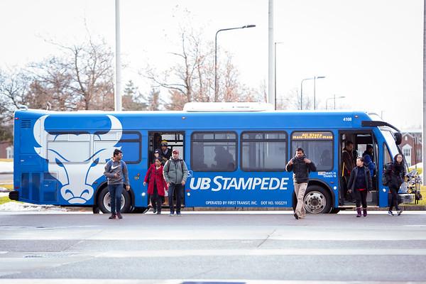 180021 At Buffalo, Transportation, Stampede Bus, north campus