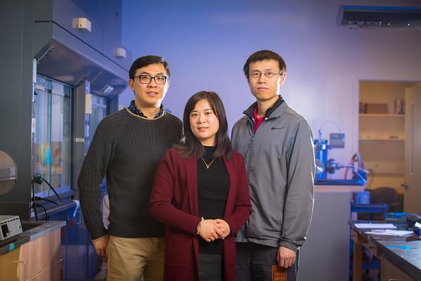 180027 Engineering, Sunny Clean Water, co-founders Qiaoqiang Gan, Zongmin Bei, Davis Hall