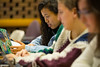 Students in John Atkinson's sustainability class in O'Brian Hall.<br /> <br /> Photographer: Douglas Levere