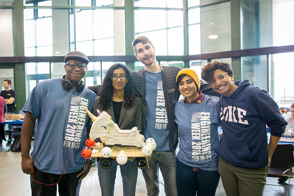 Bot Wars, part of Engineers Week, takes the stage in the Student Union lobby. <br /> <br /> Photographer: Meredith Forrest Kulwicki