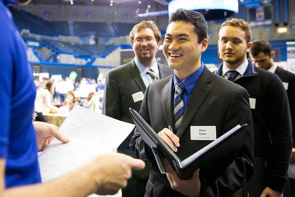 180071 Career Services, Spring Job Fair, students, Alumni Arena
