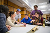 Photos of a Design Charrette with Law and Architecture students discussing ideas for furture renovation to O'Brian Hall. With Architects Kelly Hayes Mcalonie, Edward Steinfeld and Alberto Cavallero. <br /> <br /> Photographer: Douglas Levere