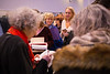 Author Margaret Atwood meets with fans and signs some books before speaking on the main stage in the Center for the Arts. <br /> <br /> Photographer: Meredith Forrest Kulwicki