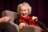 Kari Winters and author Margaret Atwood on the main stage in the Center for the Arts. <br /> <br /> Photographer: Meredith Forrest Kulwicki