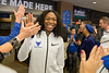 The Women's Basketball team completes a Walk to Victory at Alumni Arena before traveling to Albany for the second round of the NCAA Tournament. <br /> <br /> Photographer: Meredith Forrest Kulwicki