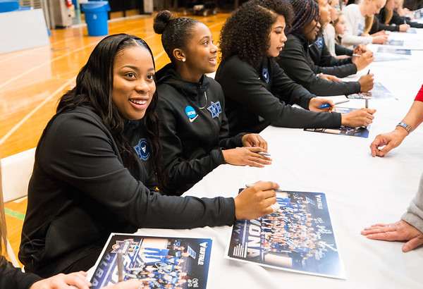 Celebration of the 2017-18 University at Buffalo Men's and Women's basketball seasons - Alumni Arena - April 13, 2018. <br /> <br /> Photographer: Paul Hokanson