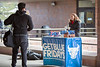 Get Blue Friday pop-up event outside Capen Hall on North Campus. <br /> <br /> Photographer: Meredith Forrest Kulwicki