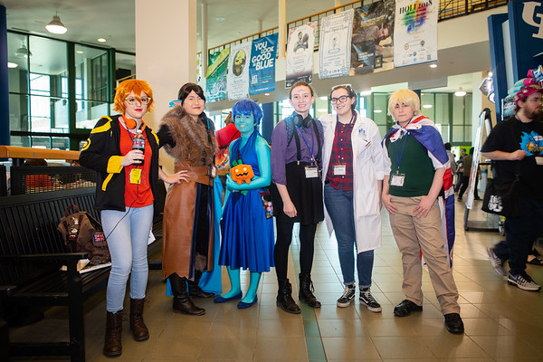 UBCon, an annual convention hosted by UB SARPA and UB Anime held on North Campus. The convention focuses on gaming and anime as well as other fandoms.<br /> <br /> Photographer: Douglas Levere