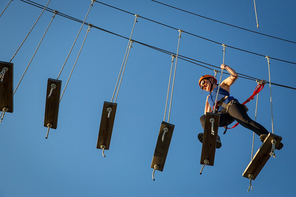 180162 Outdoor pursuits, student life, Ropes Course, JCC of Amherst