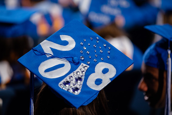 180181 Graduation Caps, CAS Morning Ceremony, Alumni Arena