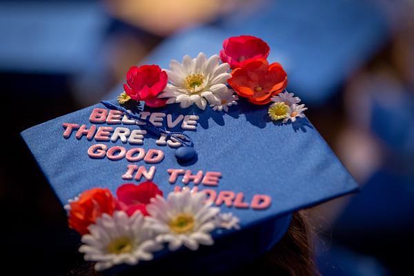 180182 Graduation Caps, CAS Afternoon Ceremony, Alumni Arena