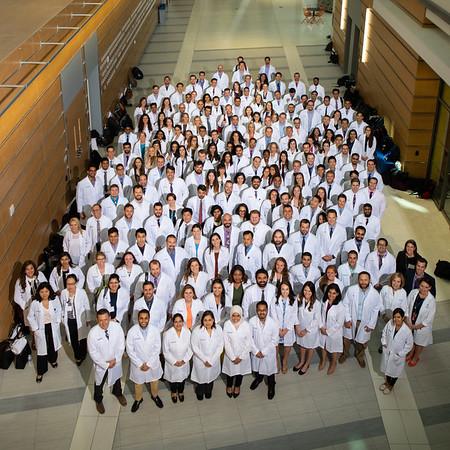 180210 Medicine, Group Long White Coat, Medical School Building